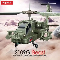 apache remote control helicopters - SYMA S109G Mini CH RC Helicopter AH Apache Helicopter Gunships Simulation Indoor Radio Remote Control Toys for Gift