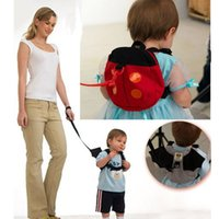Wholesale Baby Toddler Keeper Safety Harness Backpacks Bags Infant Girls Boys Ladybug Removable Convenient Pre Walker Traction Strap Gifts PX B25