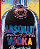 absolut quality - Absolut Vodka by Andy Warhol Pure Hand Painted Modern Art oil painting on High Quality Canvas Home Wall Decor in custom sizes