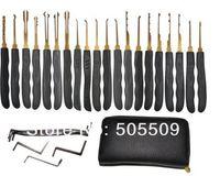 Wholesale Hot Goso house Lock Pick Tools Locksmith Tools Ehdching Leather Packing Titanize Scissors And Single Hook Lock Tools