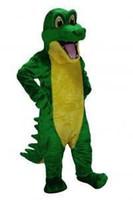 alligator costume - Custom made hot sale Adult Size Alligator Mascot Costumes Halloween Costume Fancy Dress Suit