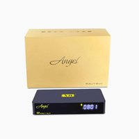 Wholesale Android dvb s2 t2 cable satellite receiver built in wifi V8 angel manufacture price within hour shipping