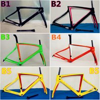 Wholesale Good quality New arrival Five models of F8 carbon bike frames Made in China T1100 K road bike carbon frameset