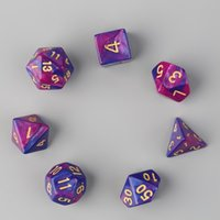 Wholesale New Dual Color Dices D4 D6 D8 D10 D12 D20 Multi Sided Game Role Playing Dual Color Dices New Brand