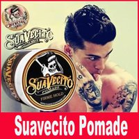 Wholesale Suavecito Pomade Strong style restoring Pomade Hair wax big skeleton hair slicked back oil wax mud keep hair men g