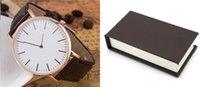 Wholesale With Box AAA Quqlity D W Watch Luxury Top Brand Daniel Women Men watches Leather Strap Gold Dial Couple Quartz Wristwatch