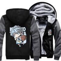 basket jacket - Dropshipping USA Kuroko no Basket Kuroko Tetsuya Hoodie Jackets Coats fashion Hoodie Thicken Zipper Unisex Sweatshirts