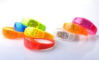 animal sounds activity - Voice Activated Sound Control Led Flashing Silicone Bracelet Light up Wristband Club Party Bar Disco Night Activity Novelty Gift