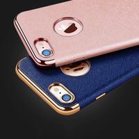 Wholesale 2017 new For Apple iphone plus new design TPU plating Soft case for iPhone plus S Plus Luxury leather back cover case
