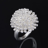 band fireworks - Beautiful Fireworks Shape Silver Plated Ring YJY Fashion Women Jewelry Ring Factory Price Wedding Accessories for Girl