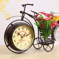 Snooze Function antique bicycle accessories - Continental Iron creative personalized pen sided bicycle clock saat watch digital watches home accessories watches and clocks