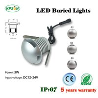 Wholesale New product W outdoors waterproof mini underground lamps IP67 small size LED downlights CE ROHS years warranty decking lights