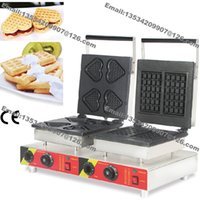 belgian waffle - Commercial Use Non stick v v Electric Heart on A Stick Square Belgian Waffle Baker Maker Machine Iron Mold