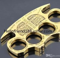 Wholesale HOT SALE NEW HELL DETECTIVE CONSTANTINE BRASS KNUCKLE DUSTERS GOLD Powerful damage safety equipment self defense
