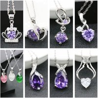 Wholesale Jmyy Jewelry New Women Wedding Bride Silver Necklace Crown Heart Pendant Crystal Necklace Hot