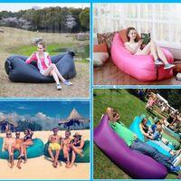 Wholesale Fast Inflatable Camping Sofa banana Sleeping Lazy Chair Bag Nylon Hangout Air Beach Bed Chair Couch Lay Bag Inflatable sofa XL A67