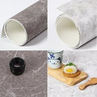 Wholesale 50cm quot PVC Photo Studio Lighting Backdrop Background Paper Rocks Texture Gray