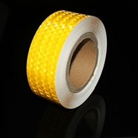 Wholesale 5CM Self Adhesive Reflective Safety Warning Tape Reflective Decoration Sticker For Truck Pickup Car Motorcycle Bike