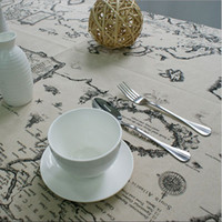 Wholesale High Quality Lace Tablecloth Elegant Decorative Tablecloth World Map Cloth Table Linen Cover For Living Room