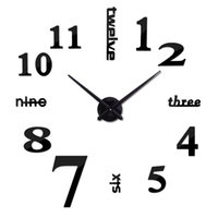 Wholesale new arrival quartz diy modern clocks needle acrylic watches big wall clock mirror sticker living room decor