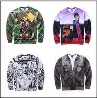 Wholesale 2017 Men s Hooded Sweater D Camouflage Pixar Sketch Jabber Print Sweater Sweatshirt Jogging Wear