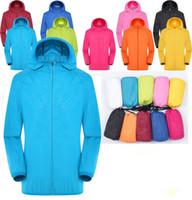 al por mayor abrigos xxl para las mujeres-2017 Hombres Mujeres Quick Dry Caminando chaqueta Impermeable Sun UV Protección Chaquetas al aire libre deportivo piel chaquetas XXXL 2016 Thin Jackets Rain Wear