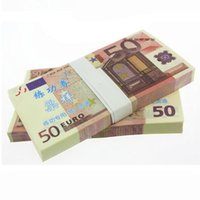 Wholesale 100Pcs Euro Notes Training Collect Learning Banknotes Perfect Paper Money