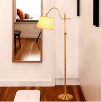 Wholesale Classic Floor Lamp Modern Office Desk Bedroom Adjustable Direction Standing Lamp Copper Color Home Lighting