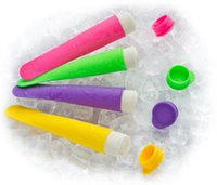 Ice Cream Makers Silicone ECO Friendly 5PCS Lot Silicone Ice Pop Mold Popsicles Mould with Lid Ice Cream Makers Push Up Ice Cream Jelly Lolly Pop For Popsicle