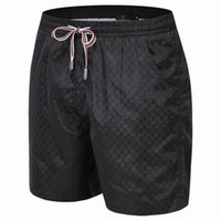 Wholesale new fashion drawstring quick dry classic geometric design luxury brand men short pants summer casual beach shorts M XXL
