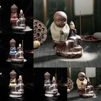 antique incense - Hot New Ceramic Incense Stick Reflow Burner Censer Monk Creative Home Decor Handicrafts Gift WC227 SYSR