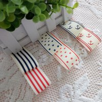 anchor pattern - 20Meters spec mm Ribbed band Star anchor strip pattern ribbon DIY Hand made bowknot clothing sewing decoration accessories