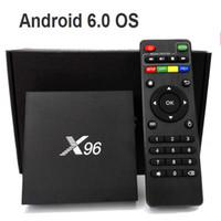 Wholesale New X96 Android TV Box Amlogic S905X Quad Core GB GB GB GB Kodi WIFI HDMI A K K Smart Media Player Miracast