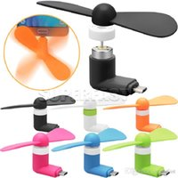 Wholesale USB Mini Fans For iPhone S Plus Portable Summer Outdoor Lightweight Easy Carry For V8 Cable Samsung Huawei