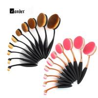 batch cream - Oval Brushes pc Cream Power Toothbrush Professional Makeup Brush MULTIPURPOSE Beauty Cosmetic Puff Batch Toothbrush Kabuki Black Rose Pink