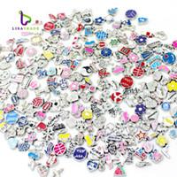 Wholesale New Sale Floating Charms quot Mix Style quot Zinc Alloy Fit Floating charm lockets Floating locket bracelet LSFC115