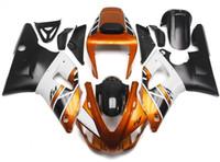 al por mayor yamaha kits del cuerpo carenados-Nuevos carenados para Yamaha YZFR1 R1 98 99 YZF1000 1998 1999 ABS plástico motocicleta carenado cuerpo carrocería cuerpo cubre negro oro blanco