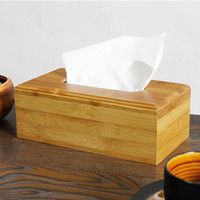Wholesale new Bamboo tissue box Paper Rack Home Rectangle Shaped Tissue Box Container Towel Napkin Tissue Holder