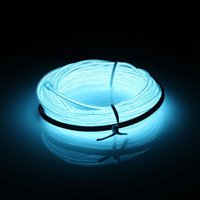 auto neon lighting - 1 M V Auto Car Interior Led Flexible EL Wire Rope Tube Cable Strip Neon Glow Party Light Decoration Colors