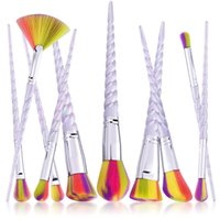 Wholesale Spiral Makeup Brushes Set set Spiral Shell Colorful Brushes Professional Colorful Hair Makeup Brushes Tool Spiral Brush Kit DHL Free