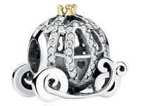 Wholesale Authenic Sterling Silver European Charms Snow White Pumpkin Fit For Pandora Style Bracelets DIY Loose Charm
