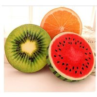 Wholesale PC Creative Personality D Fruit Pad Watermelon Stuffed Toys Kiwi Sofa Cushion Pillow Birthday Present For Girls Hot Selling