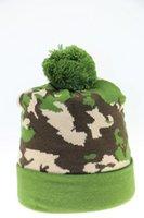 Wholesale Green Camouflage Hat Men and Women Wear hot Winter hat Fashion Beautiful Warm Hat