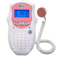 Wholesale Telephone fetal sound transmission Pocket Prenatal Fetal Doppler blue backlight LCD Built in Speaker Home Use Mhz Probe B