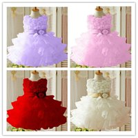 Wholesale New Flower Girl Christening Wedding Party Pageant Dress Baby First Communion Dresses Toddler Gowns Child Bridesmaid Dress