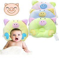 Wholesale 1 Christmas Hot Newborn Infant Soft Baby Infant Pillow Bedding Pig Shape Baby Shaping Anti Apnea Cartoon Pillow H