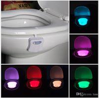 auto sense - 2016 New LED Motion sensor toilet night light Colors Changing Toilet Bathroom human body auto sensing motion activated toilet bowl light