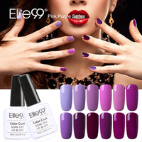 Wholesale Elite99 Nail Gel Polish Long lasting Soak off LED UV ml Gel Varnish For DIY Manicure Nail Polish Lacquer Of Pink Purple