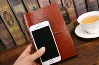 Vintage PU Leather Journal Notebook Classique Rétro spirale anneau Binder Diary Book Note Book Diary Notebook Leaf Leather Cover Notebook
