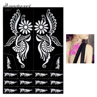 Wholesale Piece Large Indian Henna Tattoo Stencil Airbrush Painting Flower for Women Back Art Henna Tattoo Stencil Sexy DIY Product S320